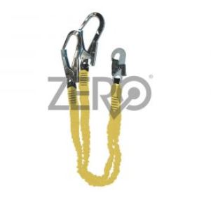 Zero Energy Absorbing Lanyard With Double Scaffold Hooks
