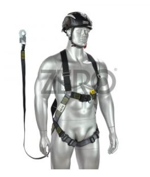 Zero Fall Arrest Harness With 2.0m Energy Absorbing Lanyard Fixed To The Harness